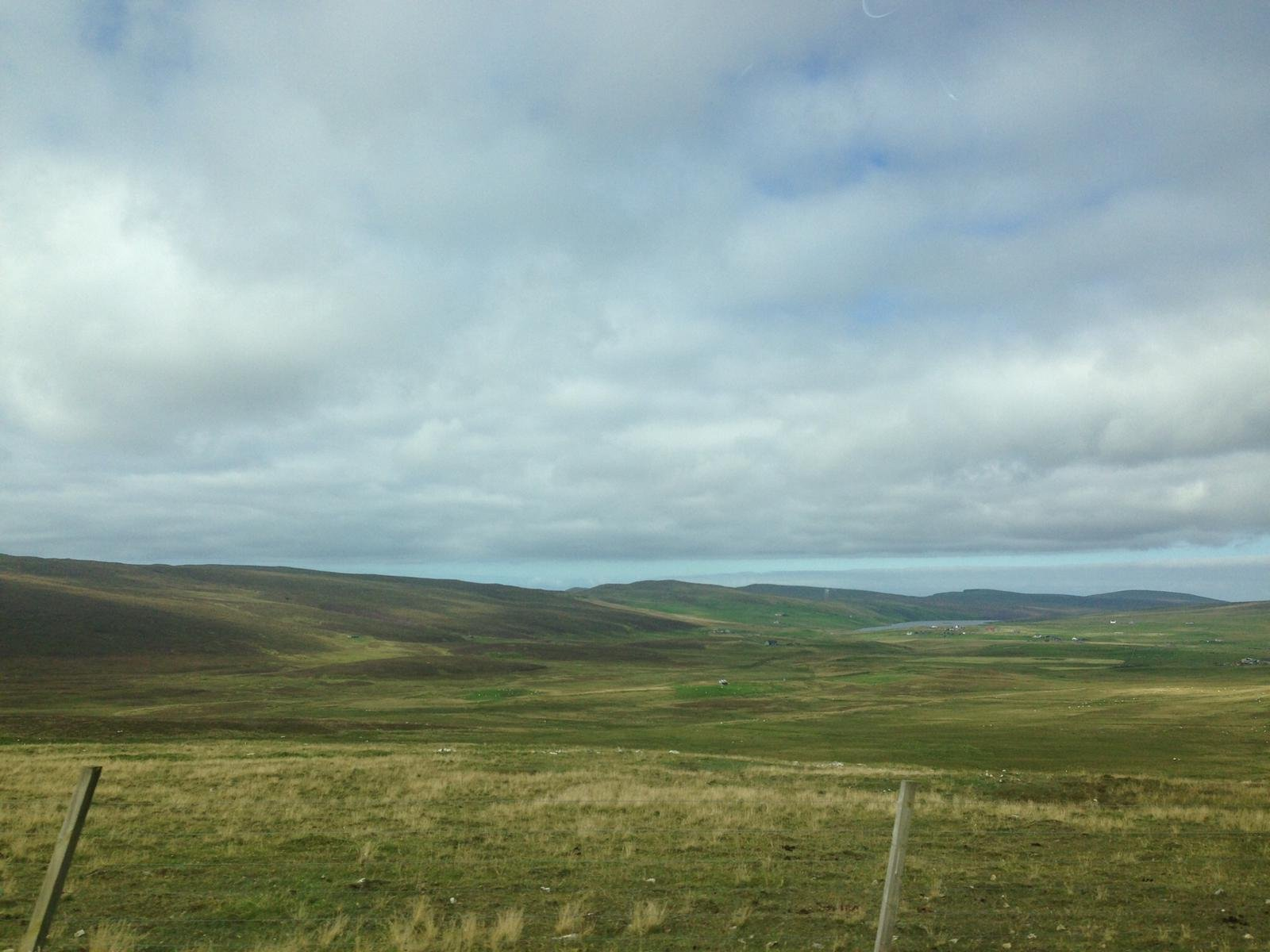 Simple fields and sea on Scotland's most northern shores